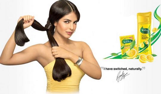 Priyanka Chopra in Vatika shampoo ad