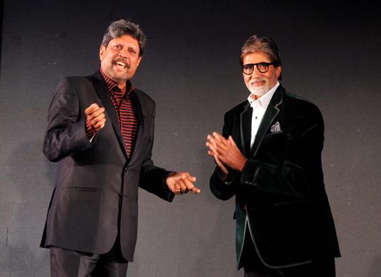 Amitabh Bachchan and Kapil Dev
