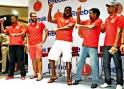 Chris Gayle, Muttiah Muralitharan, Daniel Vettori and Tillakaratne Dilshan