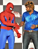 Malinga with Spiderman