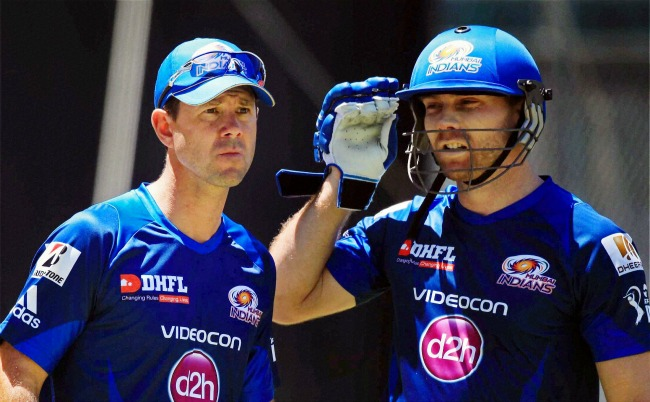 Ricky Ponting and Aiden Blizzard