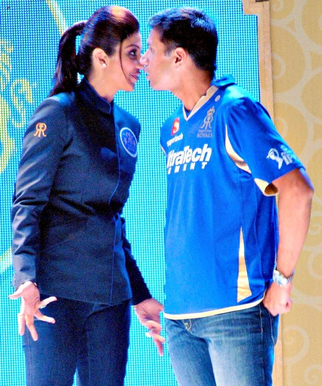 Shilpa Shetty and Rahul Dravid