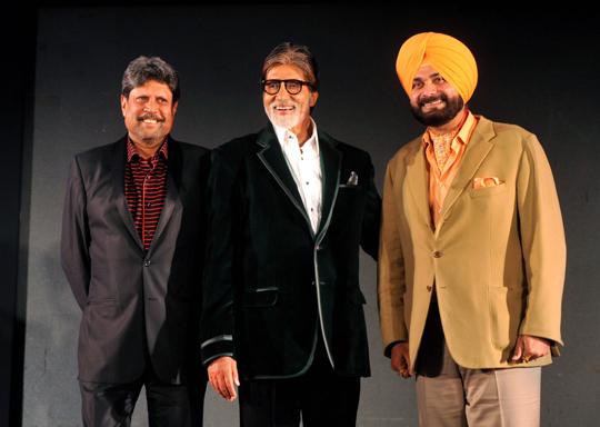 Kapil Dev, Amitabh Bachchan, Navjot Singh Sidhu