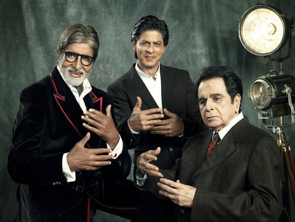 Amitabh Bachchan, Shah Rukh Khan, Dilip Kumar