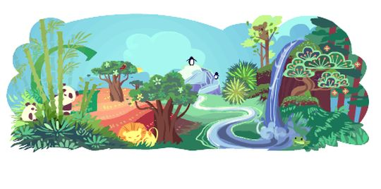 Google Doodle Earth Day 200
