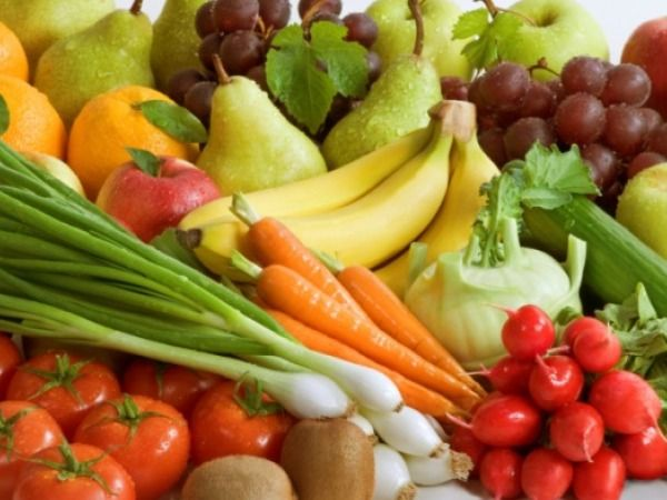 Choose fruits and vegetables