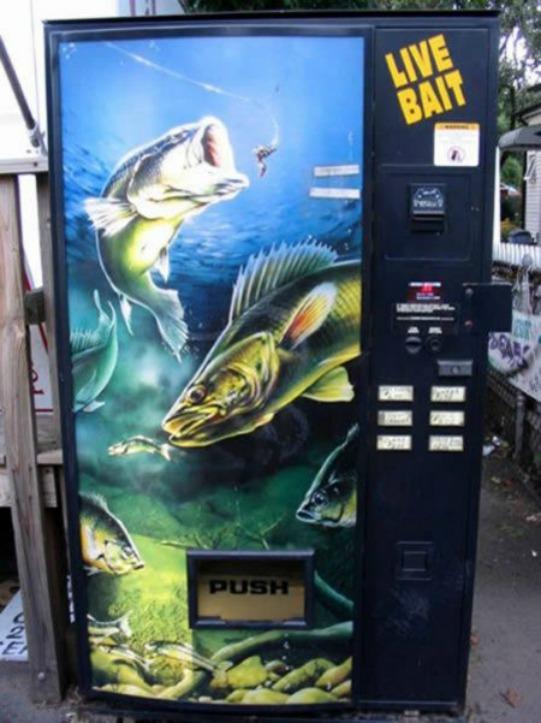 Live Bait Vending Machines