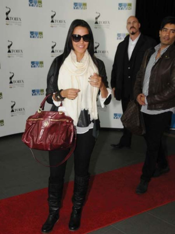 Neha Dhupia with Roberto Cavalli Diva Bowling Bag