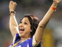 Rajasthan Royals co-owner Shilpa Shetty celebrates her team