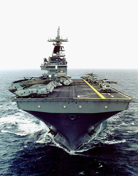The US Navy Amphibious Assault Ship USS Kearsage.