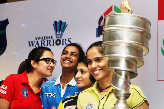 Indian Women shuttlers - Jwala,Sindhu, Ashiwni and Saina. Rio 2016