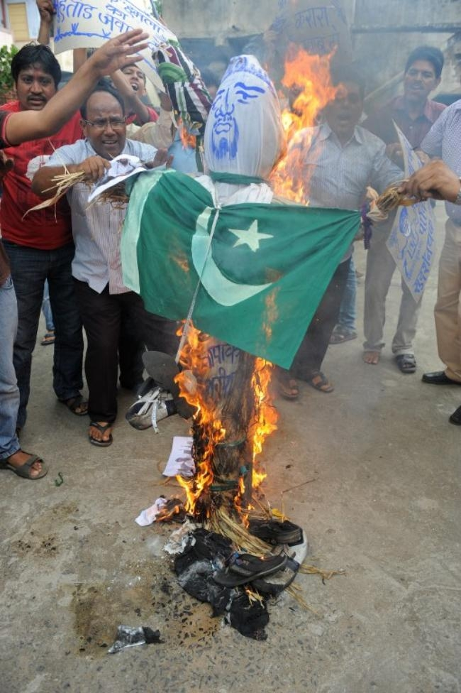 Pakistan Kills 5 Indian Soldiers: Protests In Pics