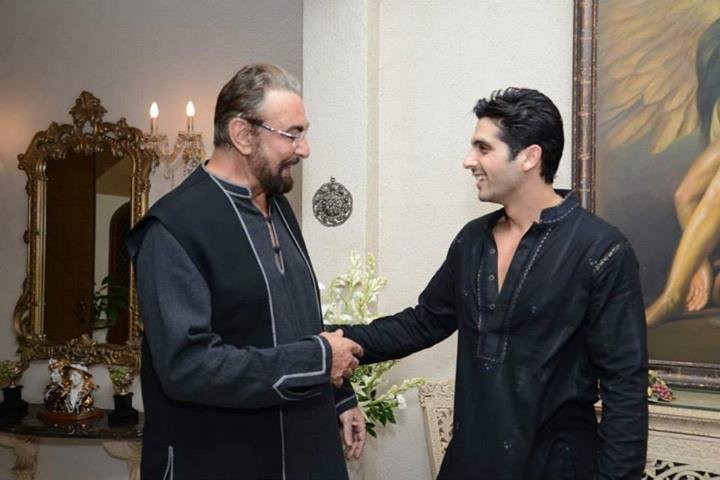Kabir Bedi, Zayed Khan at Zarine Khan
