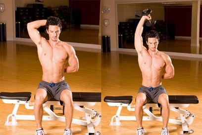 Arm Workouts: Top 10 Best Arm Exercises Overhead triceps extension.