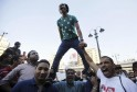 Supporters of the Muslim Brotherhood and ousted Egyptian President Mohamed Mursi shout slogans against the military and interior ministry during a protest in front of Al Istkama mosque at Giza Square, south of Cairo