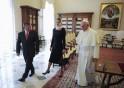 Pope Francis talks with Jordan