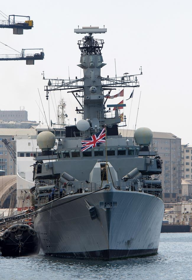 Royal Navy Warships Arrive In Gibraltar As Row With Spain Continues