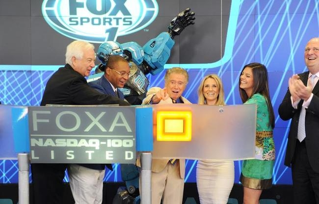 Cleatus the Robot Rings the Opening Bell at the NASDAQ