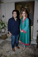 Adnan Sami with wife at Zarine Khan