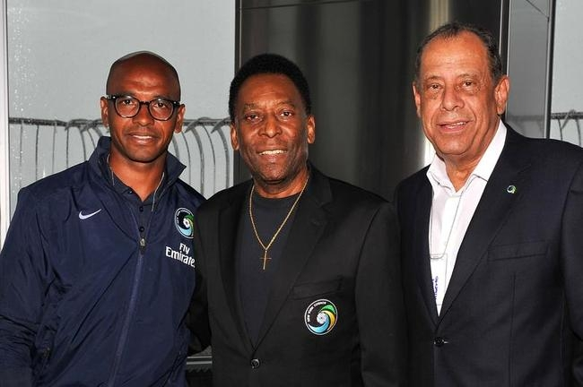 Pele at Empire State Building