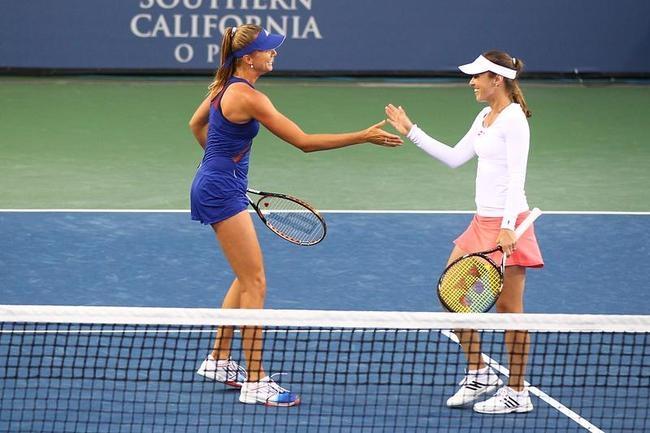 Daniela Hantuchova and Martina Hingis