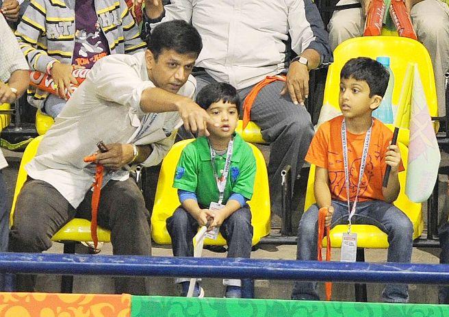 Rahul Dravid & Family
