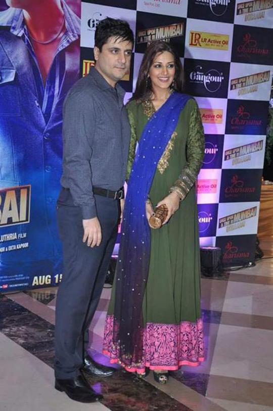 Goldie Behl with wife Sonali Bendre at Ekta Kapoor