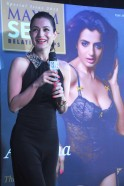 Ameesha Patel poses at the launch of her new cover
