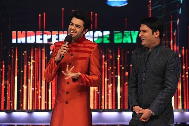 Manish Paul and Kapil Sharma
