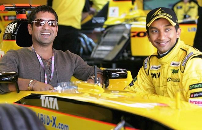 Sachin Tendulkar and Nariain Karthikeyan