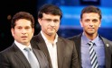 Sachin Tendulkar, Sourav Ganguly and Rahul Dravid