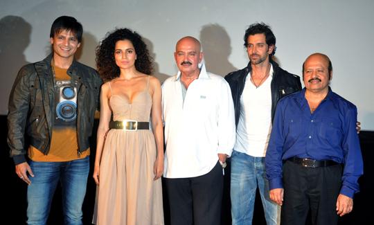Vivek Oberoi, Kangana Ranaut, Rakesh, Hrithik and Rajesh Roshan