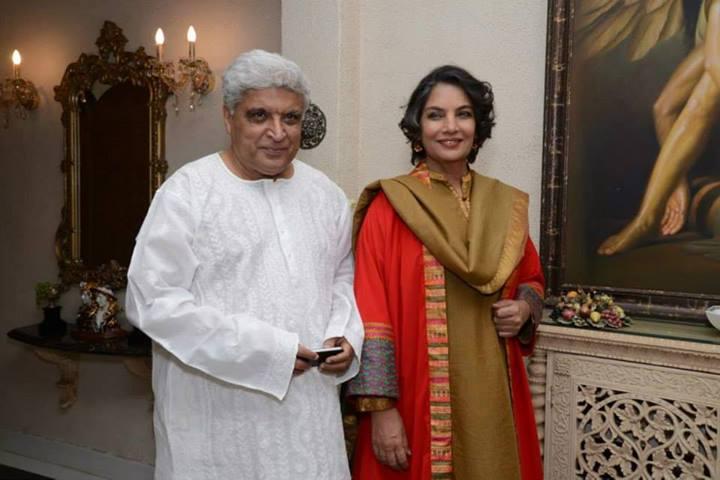 Javed Akhtar, Shabana Azmi at Zarine Khan