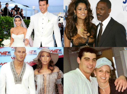Top 10 Shortest Celebrity Marriages - YouTube