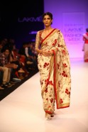 """August 2013: It was a journey that brought the fashionable past and the trendy present together in a classic theme for a collection called """"Ba-Dastoor"""" (Like Always) at Lakmé Fashion Week Winter/Festive 2013. To display his inspiration, Debarun"""