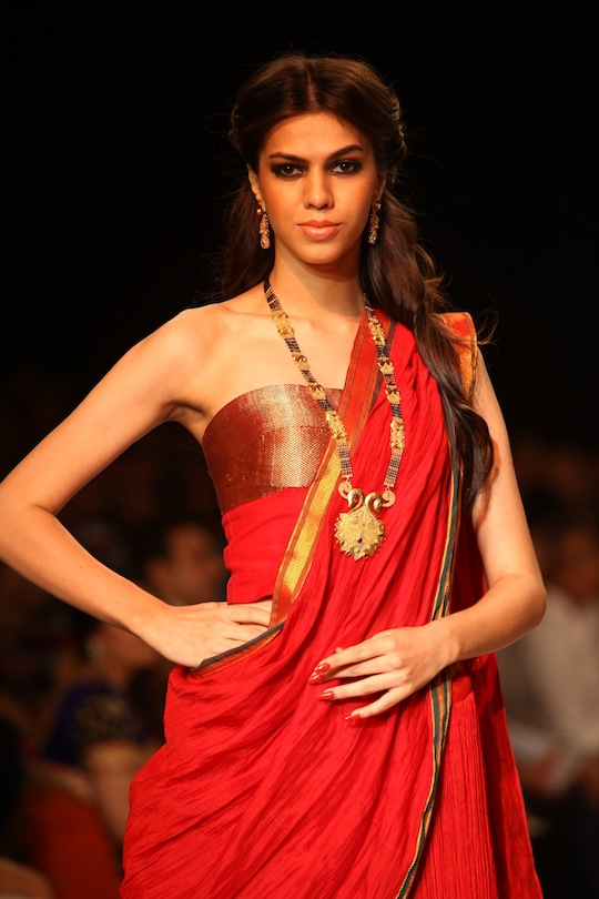 A model showcases the Mangalsutra collection