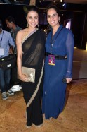 ·Gul Panag: A black georgette saree with a delicate embroidered border