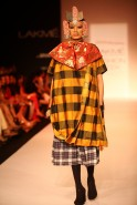 "Known for creating the most extreme accessories, Little Shilpa once again wowed the audience with her ""out of the box"" creativity at Lakmé Fashion Week Winter/Festive 2013. Using amazing unconventional materials, the accessories for the head and neck"
