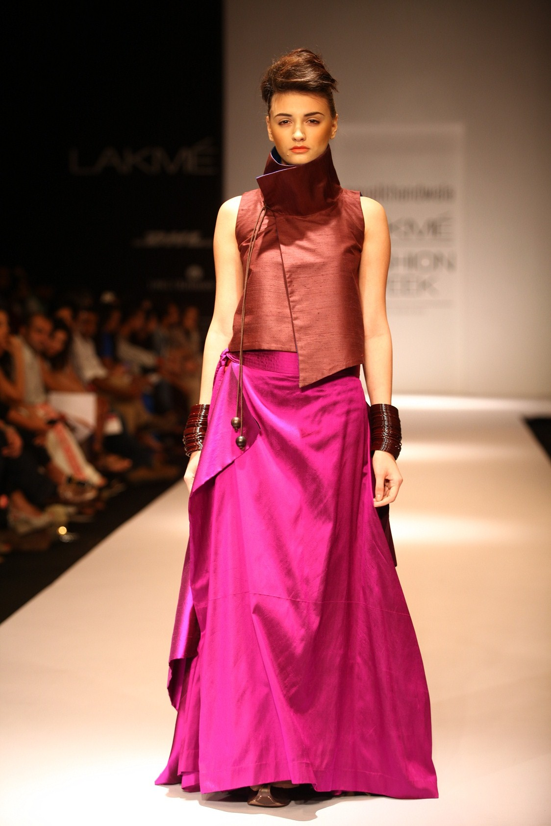 """Payal Khandwala's collection, called """"A Fine Balance"""", at Lakmé Fashion Week Winter/ Festive 2013 was dedicated to the intelligent woman who longs for the unusual in her wardrobe."""