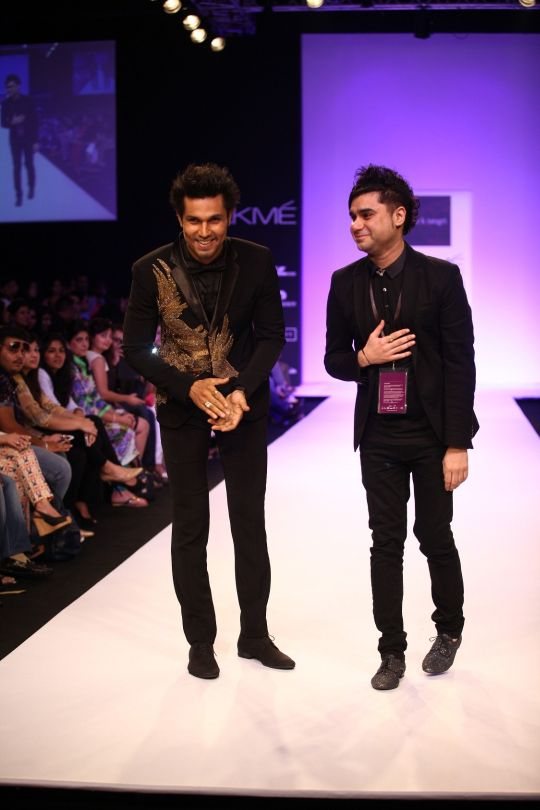 "Bringing glamour from the Gothic, Byzantine and Baroque eras onto the ramp at Lakmé Fashion Week Winter/Festive 2013, Rajat Tangri's collection called ""Dark Ages"" aptly recreated the drama in colours, styles and forms"