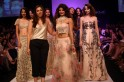 "Shehla Khan, for her label ""Shehlaa"", introduced a bold fairy tale fashion fantasy at Lakmé Fashion Week Winter/Festive 2013. Drawing inspirations from the many fairy tales she had adored in the past, the collection was a romantic melangé of Indian"