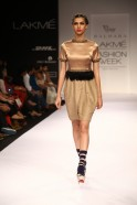 """Giving his collection called """"Muted Monologue"""" fashion directions; Vijay Balhara presented a glamorous line of western wear"""