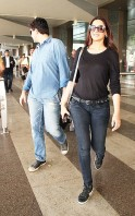 Sonali Bendre was recently photographed at the Mumbai airport