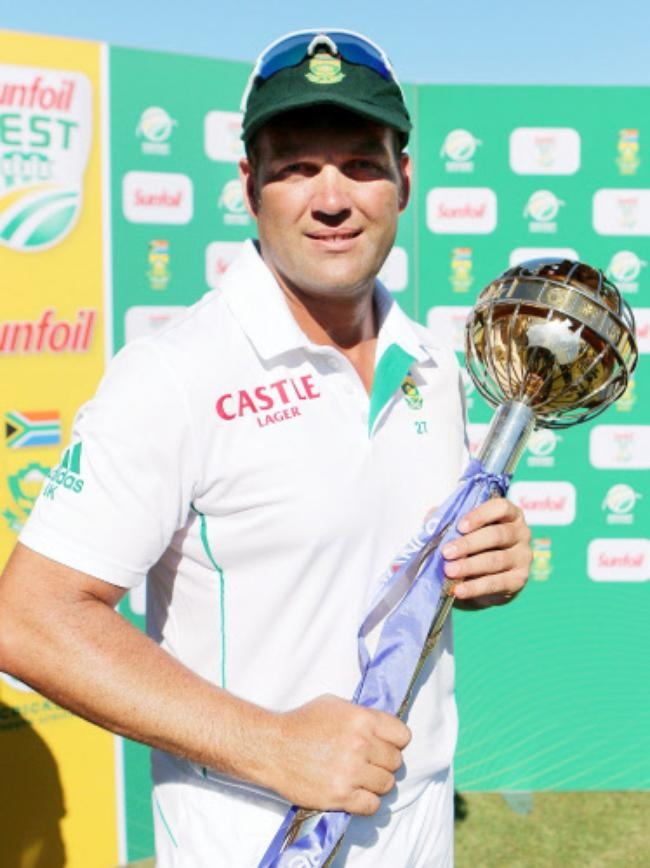 Jacques Kallis with the ICC Test Mace