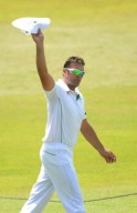 Jacques Kallis gestures to the crowd