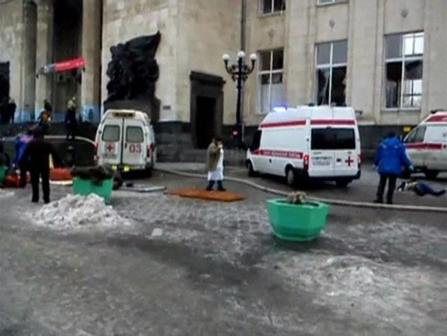 Explosion at Russian train station