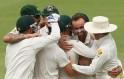Australia in a huddle