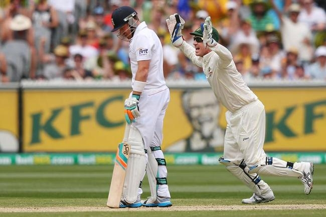 Ian Bell was out for a golden duck