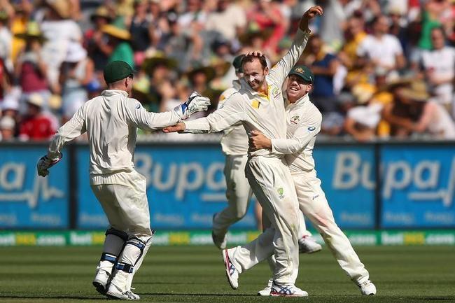 Nathan Lyon dismissed Pietersen for 49