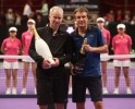Winner McEnroe with Runner-up mats Wilander